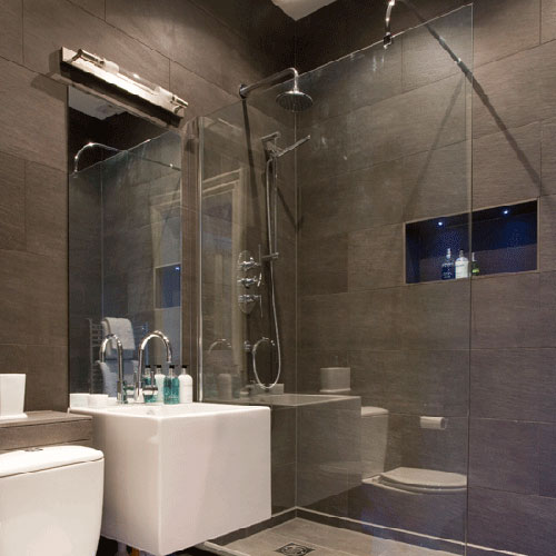Badkamer inloopdouche interieur inrichting for Tiny shower room design