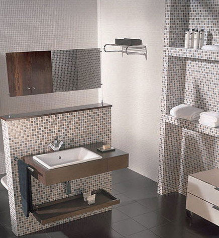 Badkamer ontwerpen met moza ek tegels interieur inrichting - Kleine badkamer deco ...