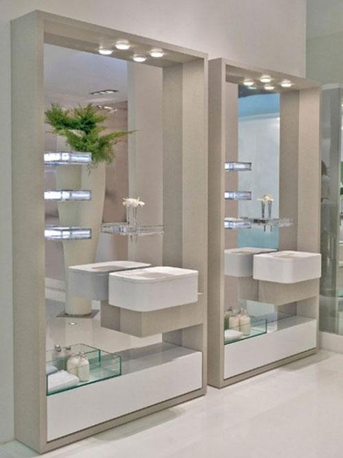 Badkamer spiegel kast