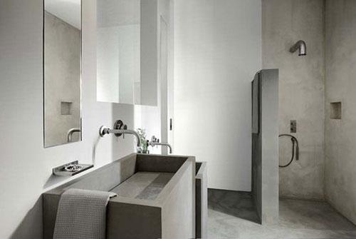 Badkamer Meubel Hoek ~ beton beton in badkamer betonlook betonlook badkamer betonlook muur