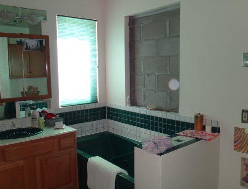 Badkamer verbouwing van Heather & Mike