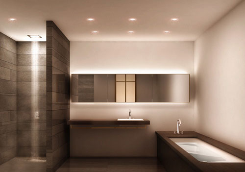 Badkamer verlichting ideeën  Interieur inrichting