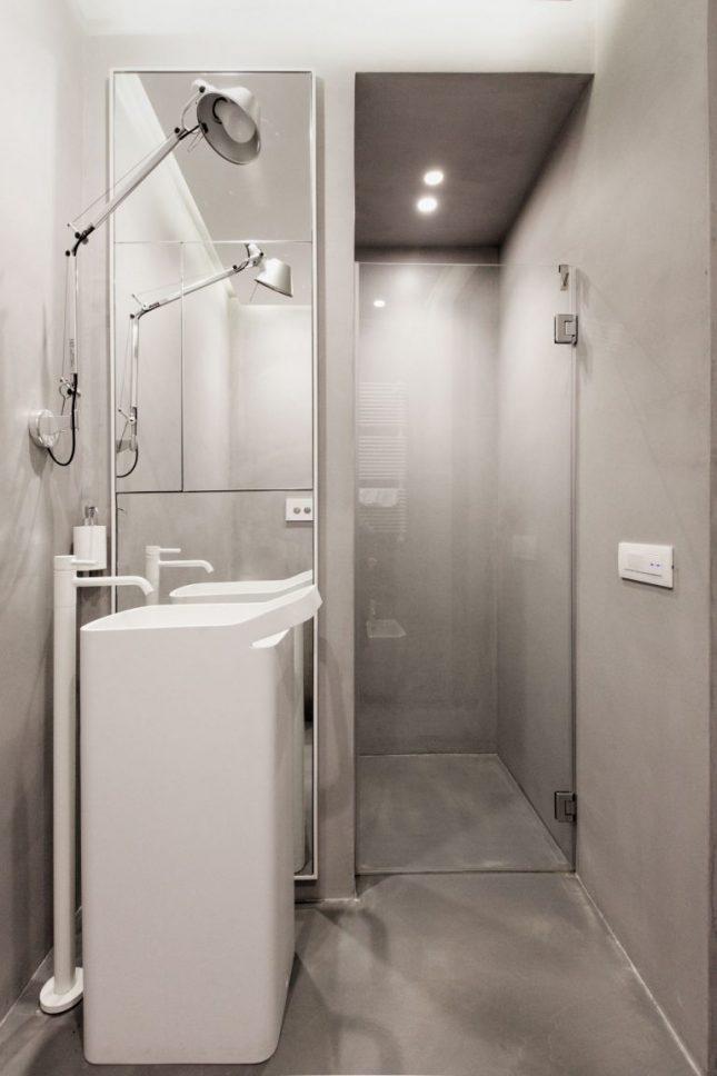 badkamers voorbeelden met inloopdouche betonstuc