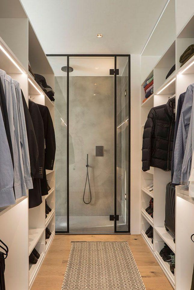 badkamers voorbeelden met inloopdouche inloopkast