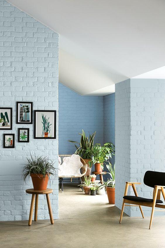 Bakstenen muur verven