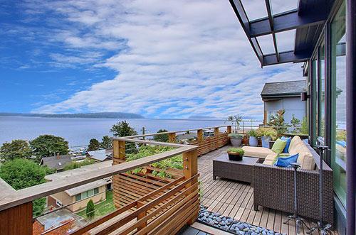 Balkon inspiratie met zeezicht