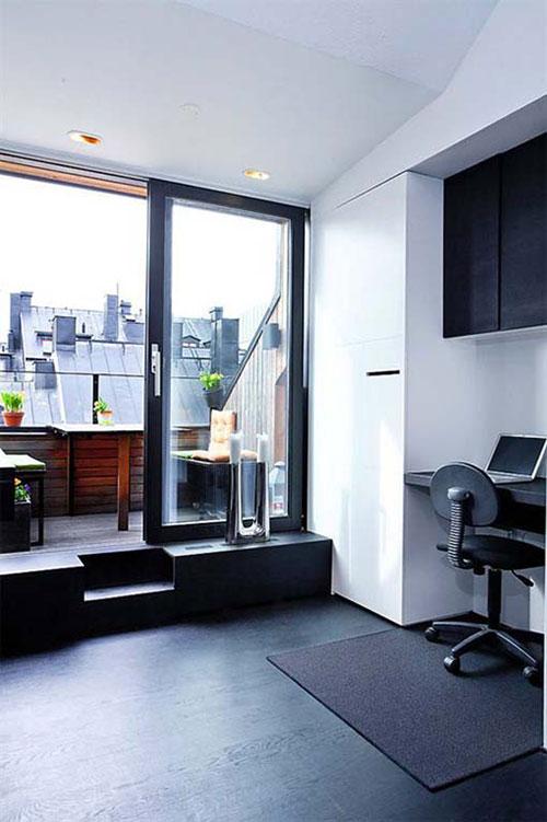 Balkon in klein appartement