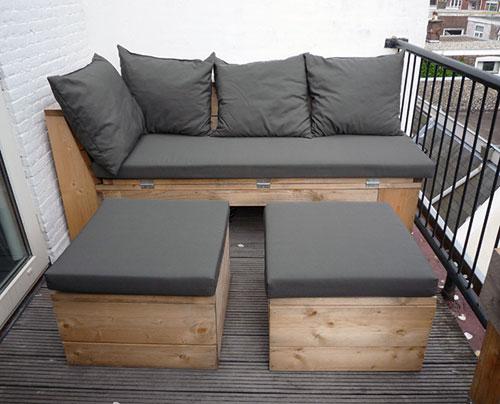 balkon meubels interieur inrichting. Black Bedroom Furniture Sets. Home Design Ideas