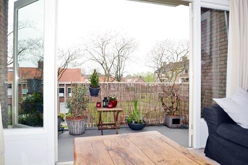Rieten Balkon Meubels : Balkonreling van riet interieur inrichting