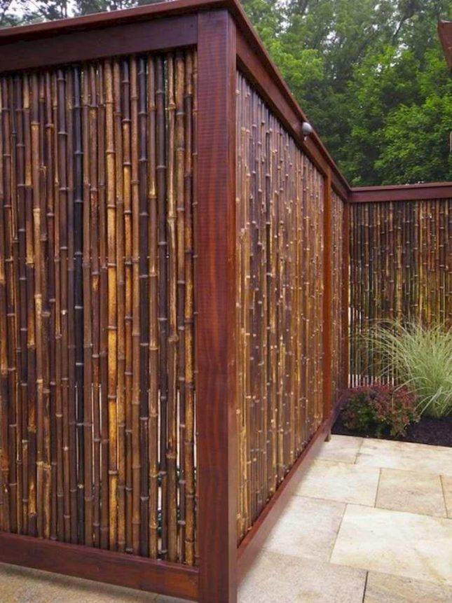bamboe schutting houten frame
