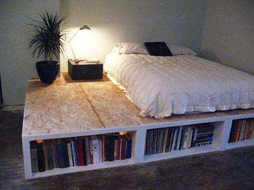 Wandkasten Slaapkamer Ikea : DIY Platform Bed with Storage