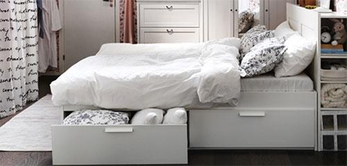Favoriete Bedden met opbergruimte | Interieur inrichting &RM18