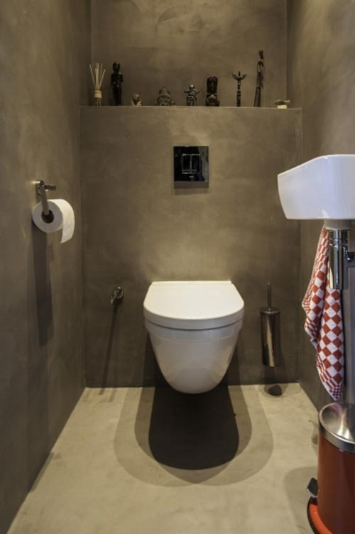 Beton cir in toilet interieur inrichting - De kosten deco ...