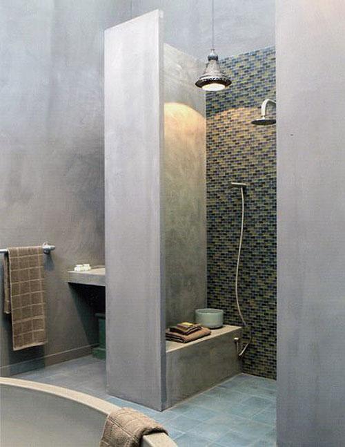 Betonlook badkamer inspiratie