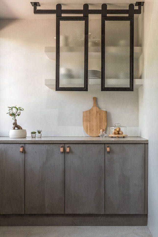 betonlook keukenkasten