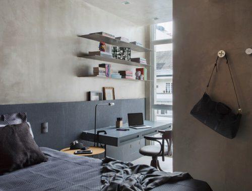 Betonstuc in slaapkamer