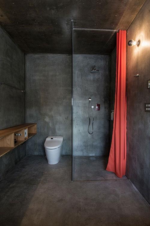 betonlook muren badkamer