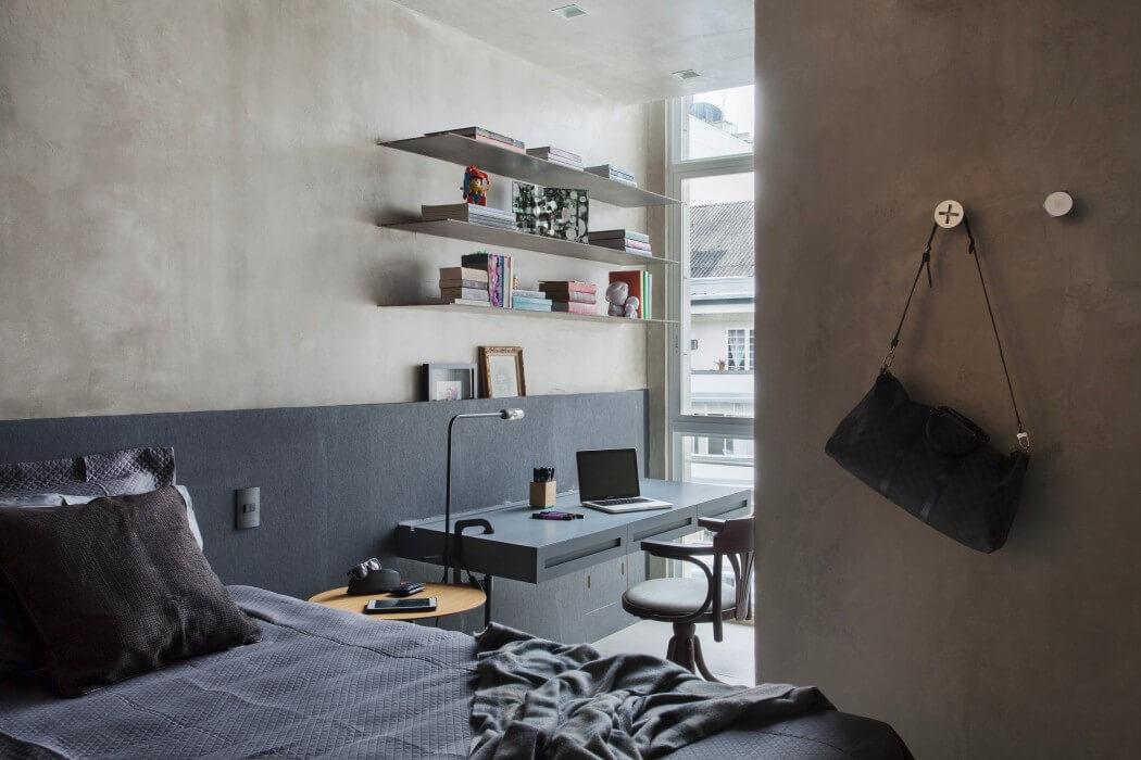 Slaapkamer Interieur Grijs : Betonstuc in slaapkamer interieur inrichting