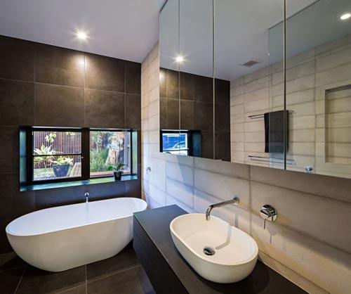 Betonlook tegels in badkamer | Interieur inrichting
