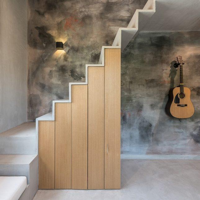 betonlook verven muur kinderkamer