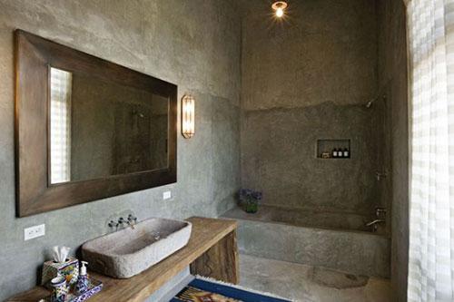 Betonlook vloer badkamer