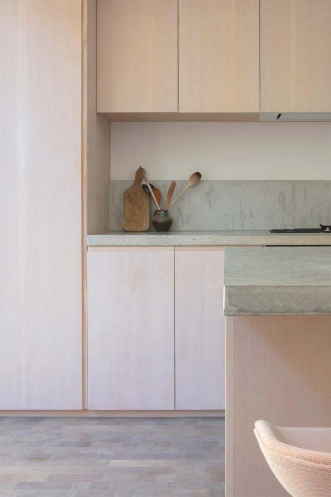 betonnen aanrechtblad houten keuken