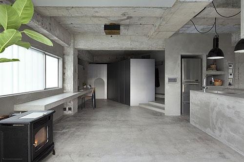 Betonnen interieur