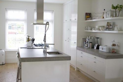 Wit Stoere Keuken : Betonnen keuken interieur inrichting