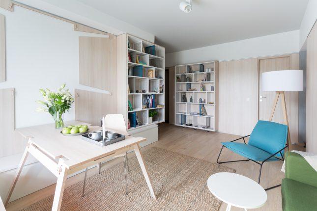 Bijzondere inklapbare tafel in de woonkamer interieur for Inklapbare tafel
