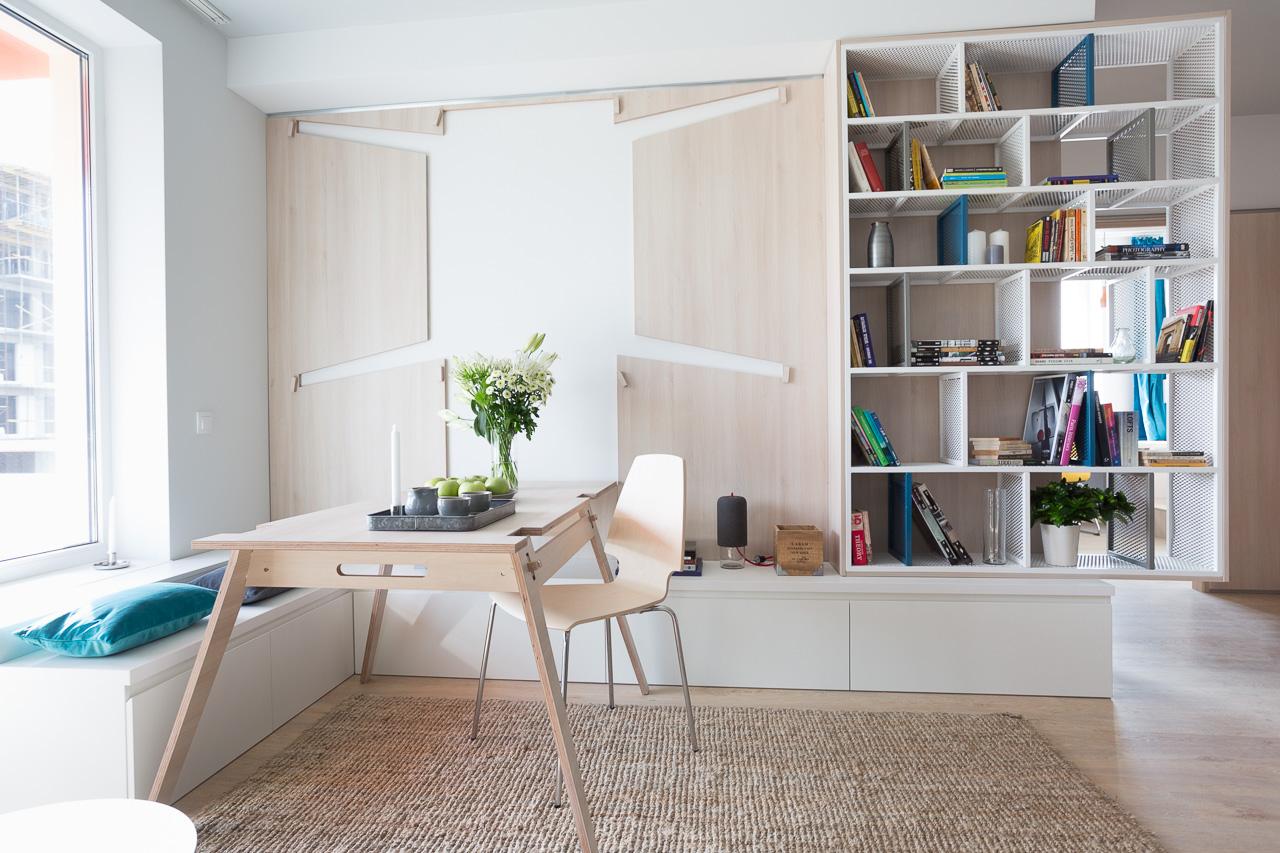 Bijzondere inklapbare tafel in de woonkamer interieur Woonkamer tafel