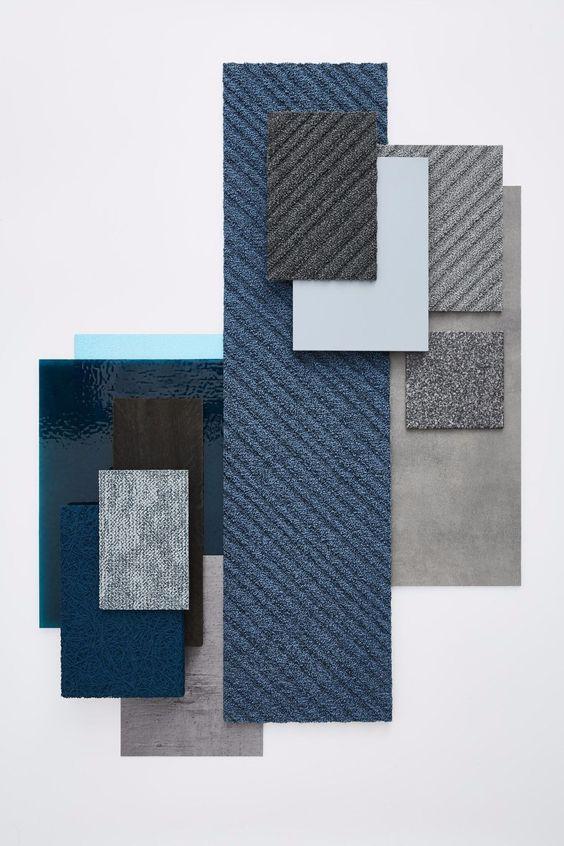 Blauw combineren interieur moodboard