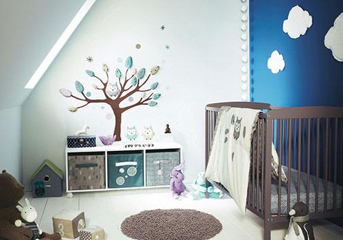 Roze Blauwe Kinderkamers : Blauwe babykamer interieur inrichting