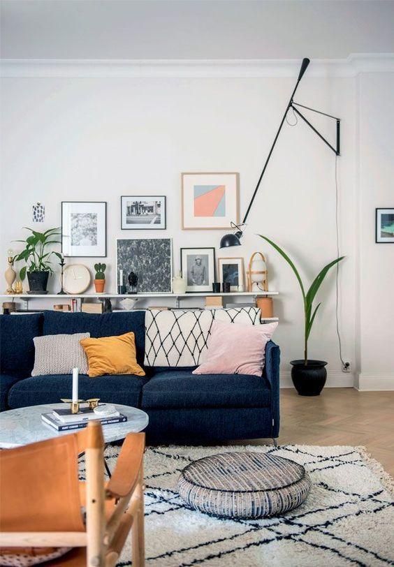 Blauwe meubels