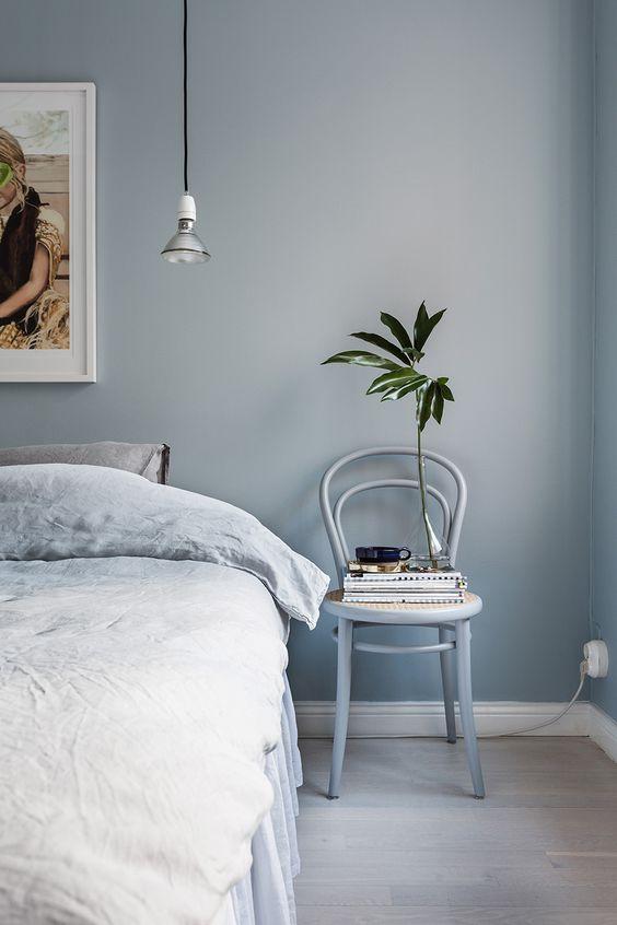Blauwe stoel slaapkamer