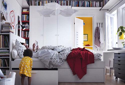 Boekenkast in slaapkamer