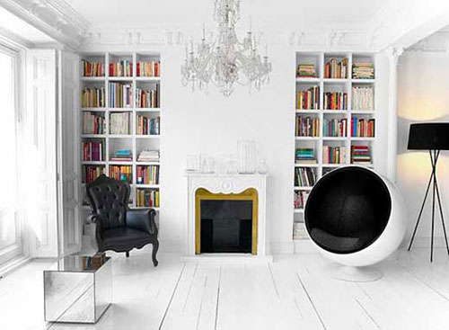 Woonkamer Met Boekenkast : Boekenkast inrichten in woonkamer interieur inrichting