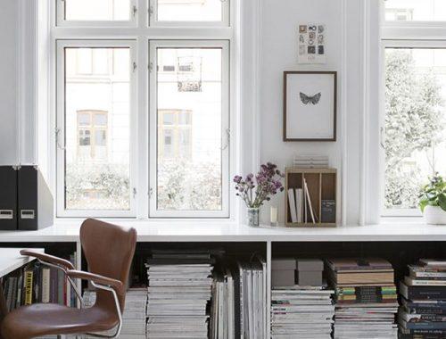 Boekenkast vensterbank