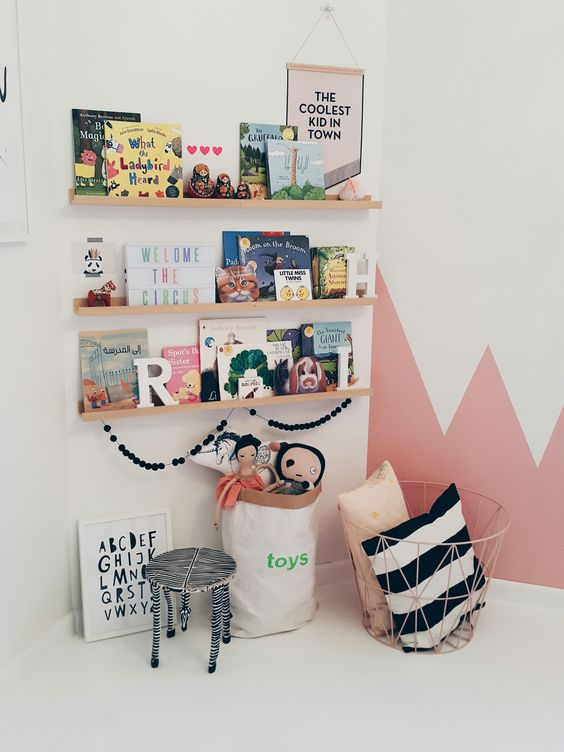 Boekenplank kinderkamer
