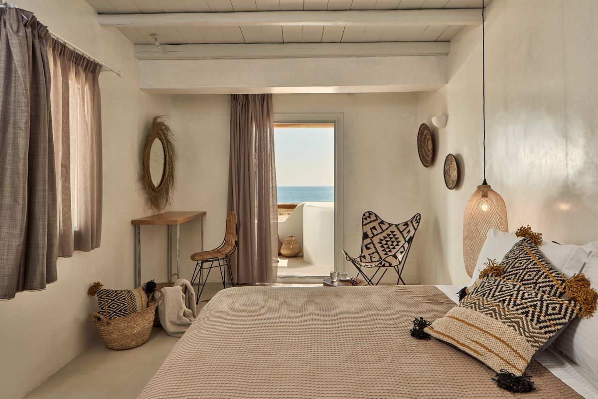 Bohemian ibiza slaapkamer interieur inrichting