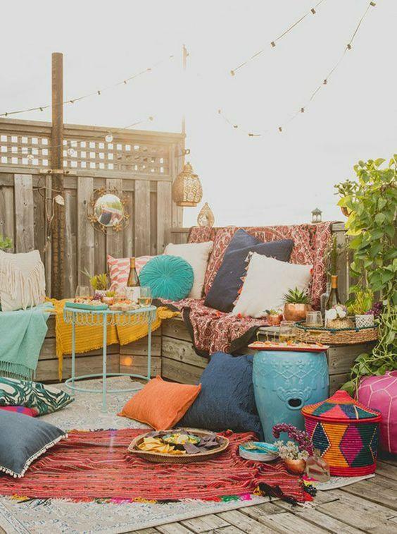 Bohemian kleuren tuin