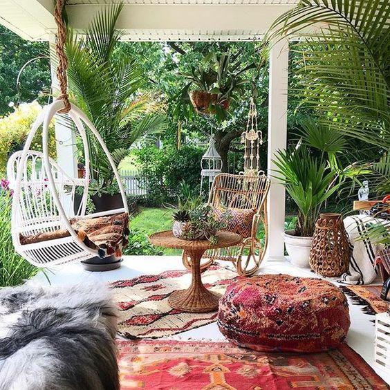 Bohemian tuin hangstoel