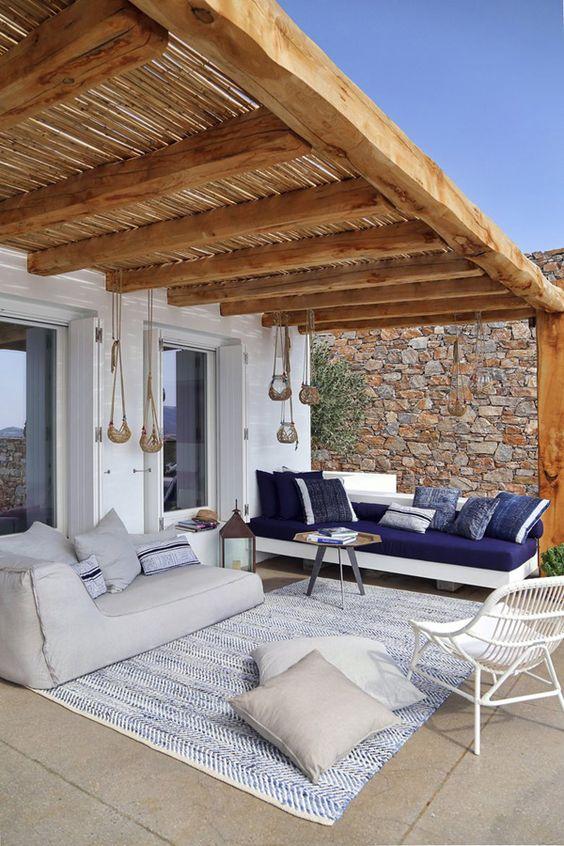 Bohemian tuin loungebank