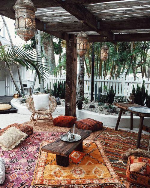 Bohemian tuin vloerkleed