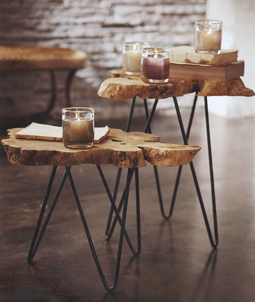 Boomstam salontafel : Interieur inrichting