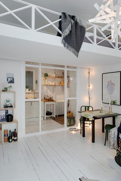 De charme van een klein appartement interieur inrichting - Van interieur appartement ...