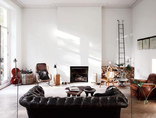 open haard haardhout opslag woonkamer