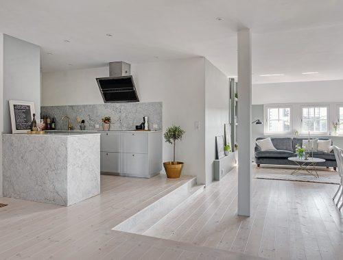 Op maat gemaakte open witte wandkast interieur inrichting - Chique en gezellige interieur ...