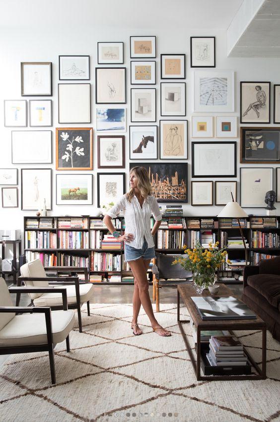 collage lijsten muur