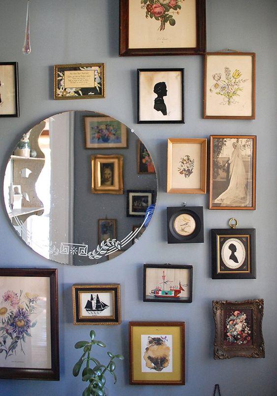 collage spiegel lijsten