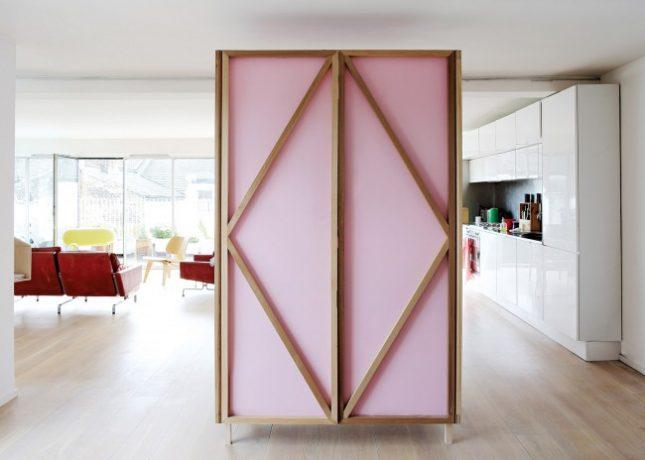 Combinatie van kledingkast en roomdivider interieur inrichting - Design kledingkast ...